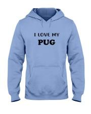 I LOVE MY PUG Hooded Sweatshirt thumbnail
