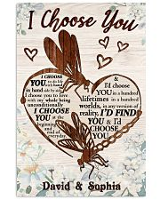I CHOOSE YOU DRAGONFLY PERSONALIZED GIFT 24x36 Poster front