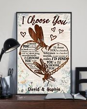 I CHOOSE YOU DRAGONFLY PERSONALIZED GIFT 24x36 Poster lifestyle-poster-2