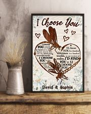 I CHOOSE YOU DRAGONFLY PERSONALIZED GIFT 24x36 Poster lifestyle-poster-3