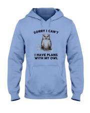 I have plans with owl Hooded Sweatshirt thumbnail