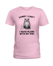 I have plans with owl Ladies T-Shirt thumbnail