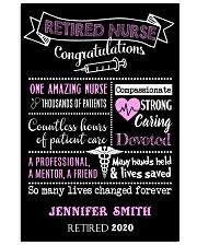 RETIRED NURSE CONGRATULATIONS PERSONALISED GIFT 24x36 Poster front