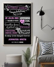 RETIRED NURSE CONGRATULATIONS PERSONALISED GIFT 24x36 Poster lifestyle-poster-1