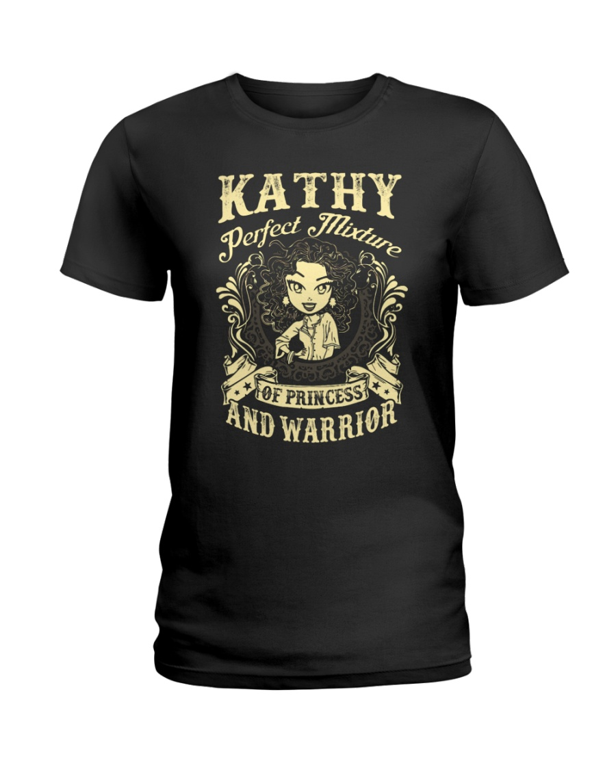 PRINCESS AND WARRIOR - Kathy Ladies T-Shirt