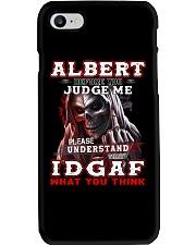 Albert - IDGAF WHAT YOU THINK  Phone Case thumbnail