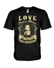 PRINCESS AND WARRIOR - Love V-Neck T-Shirt thumbnail