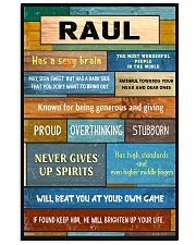 Raul - PT01 24x36 Poster front