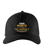 MONTE - THING YOU WOULDNT UNDERSTAND Embroidered Hat front