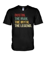 THE LEGEND - dustin V-Neck T-Shirt thumbnail
