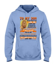 TO MY SON - LOVE - DAD Hooded Sweatshirt thumbnail