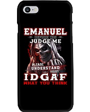 Emanuel - IDGAF WHAT YOU THINK M003 Phone Case thumbnail