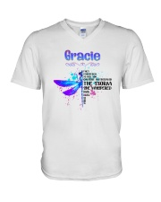 Gracie - Im the storm DRFL V-Neck T-Shirt thumbnail