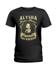 PRINCESS AND WARRIOR - ALYSHA Ladies T-Shirt front