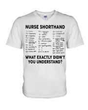 NURSE SHORTHAND V-Neck T-Shirt thumbnail