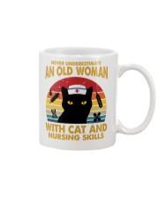 OLD WOMAN WITH CAT AND NURSING SKILLS Mug thumbnail