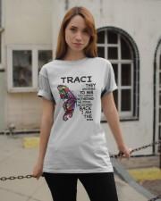 Traci - Im the storm VERS Classic T-Shirt apparel-classic-tshirt-lifestyle-19
