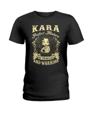PRINCESS AND WARRIOR - KARA Ladies T-Shirt front