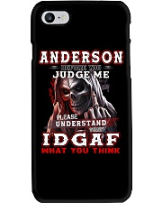 Anderson - IDGAF WHAT YOU THINK  Phone Case thumbnail