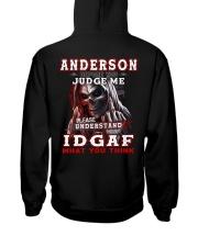 Anderson - IDGAF WHAT YOU THINK  Hooded Sweatshirt back