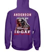Anderson - IDGAF WHAT YOU THINK  Hooded Sweatshirt tile