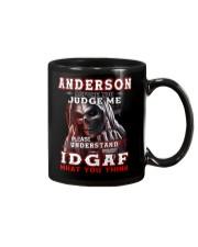 Anderson - IDGAF WHAT YOU THINK  Mug thumbnail