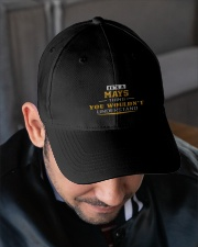 MAYS - Thing You Wouldnt Understand Embroidered Hat garment-embroidery-hat-lifestyle-02