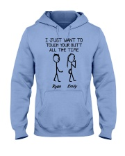 WANT TO TOUCH ALL THE TIME Hooded Sweatshirt thumbnail