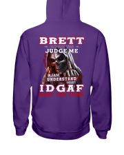 Brett - IDGAF WHAT YOU THINK M003 Hooded Sweatshirt thumbnail