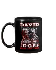 David - IDGAF WHAT YOU THINK M003 Mug back