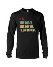 Kc The man The myth The bad influence Long Sleeve Tee thumbnail