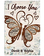 I CHOOSE YOU BUTTERFLIES PERSONALIZED GIFT 24x36 Poster front