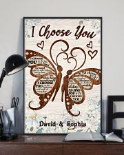 I CHOOSE YOU BUTTERFLIES PERSONALIZED GIFT 24x36 Poster lifestyle-poster-2