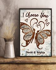 I CHOOSE YOU BUTTERFLIES PERSONALIZED GIFT 24x36 Poster lifestyle-poster-3