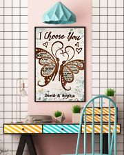 I CHOOSE YOU BUTTERFLIES PERSONALIZED GIFT 24x36 Poster lifestyle-poster-6