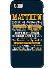 Matthew - Completely Unexplainable Phone Case thumbnail