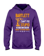 BARTLETT - FIX WHAT STUPID DOES Hooded Sweatshirt thumbnail
