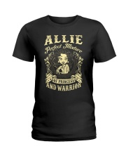PRINCESS AND WARRIOR - Allie Ladies T-Shirt front