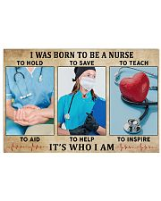 I WAS BORN TO BE A NURSE 36x24 Poster front