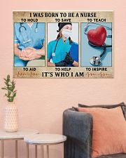 I WAS BORN TO BE A NURSE 36x24 Poster poster-landscape-36x24-lifestyle-18