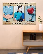 I WAS BORN TO BE A NURSE 36x24 Poster poster-landscape-36x24-lifestyle-22