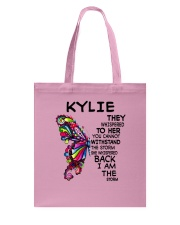 Kylie - Im the storm VERS Tote Bag thumbnail