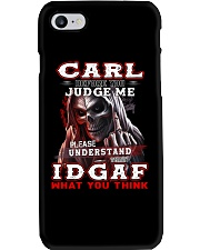 Carl - IDGAF WHAT YOU THINK M003 Phone Case tile