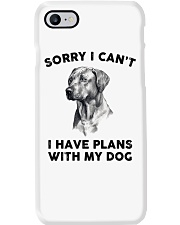 I have plans with dog Phone Case thumbnail