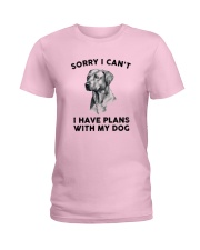 I have plans with dog Ladies T-Shirt thumbnail