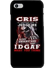 Cris - IDGAF WHAT YOU THINK M003 Phone Case thumbnail