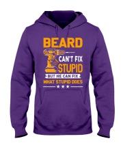 BEARD - FIX WHAT STUPID DOES Hooded Sweatshirt thumbnail