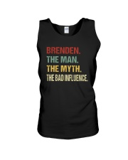 Brenden The man The myth The bad influence PX81 Unisex Tank thumbnail