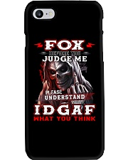 Fox - IDGAF WHAT YOU THINK M003 Phone Case tile
