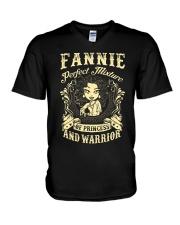 PRINCESS AND WARRIOR - FANNIE V-Neck T-Shirt thumbnail
